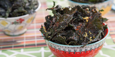 Kale Chips, Three Ways
