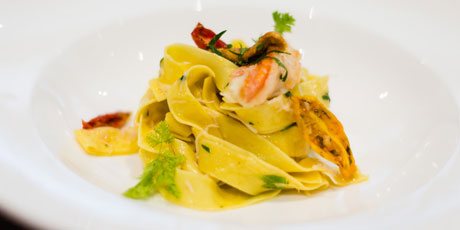 Fogo Island Crab & Kina Pappardelle with Preserved Lemon