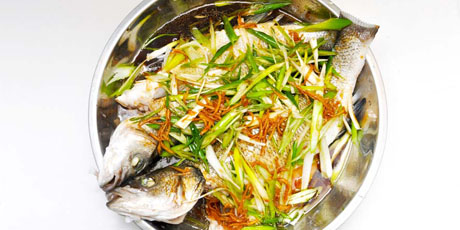 Chinese Ginger Soy Sea Bass Print Recipe