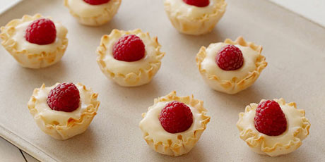 Raspberry Vanilla Tartlets