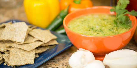 Roasted Tomatillo and Cilantro Salsa