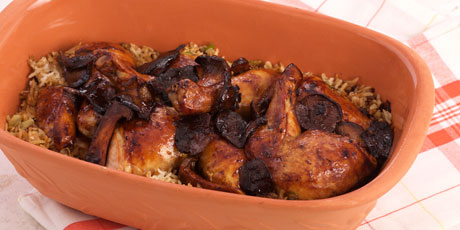 Claypot Roasted Chicken with Mushrooms