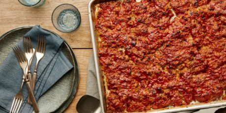 Sheet-Pan Glazed Meat Loaf