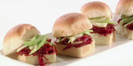 Cranberry BBQ Sauce Turkey Sliders