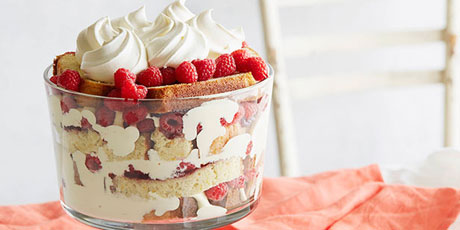 Raspberry Orange Trifle