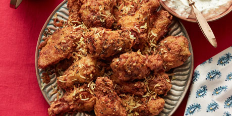 Extra-Crispy Indian Spiced Chicken Wings