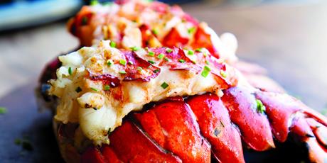 Butterflied Lobster Tails with Garlic-Lemon Butter