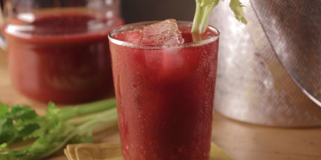 Bloody Mary with Homemade Vegetable Juice