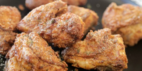 Fried Chicken with Dill Salt