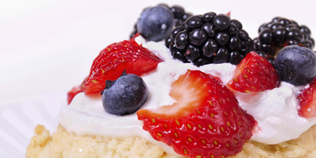 Berries with Shortcake and Whipped Cream