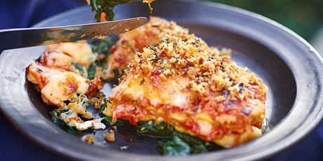 Crispy duck lasagne recipes food network canada crispy duck lasagne jamies comfort food forumfinder Image collections