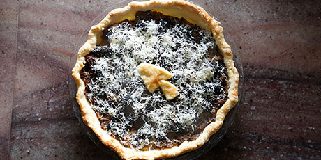 Wild Onion and Wild Mushroom Tart