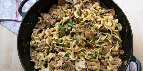 Anna Olson S Beef Stroganoff Recipes Food Network Canada