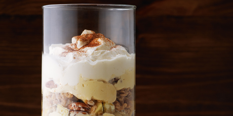 Apple Crisp and Bourbon-Cream Trifle