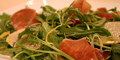 Arugula Salad with Pear and Prosciutto
