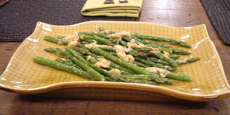 Asparagus with Lemon Butter and Parmesan
