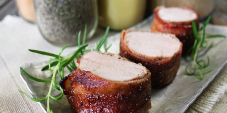 Bacon Roast Pork Tenderloin
