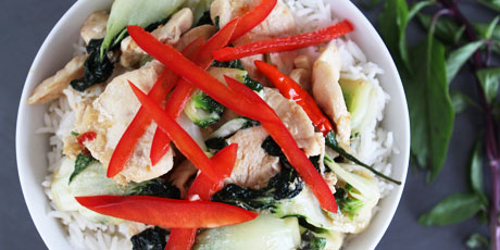 Basil Chicken Bowl