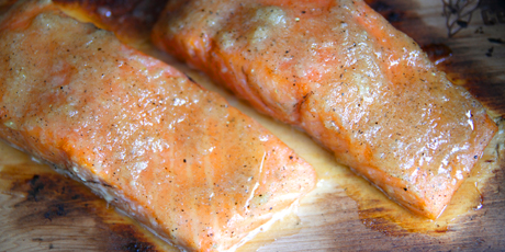 BBQ Hot Smoked Salmon with Maple