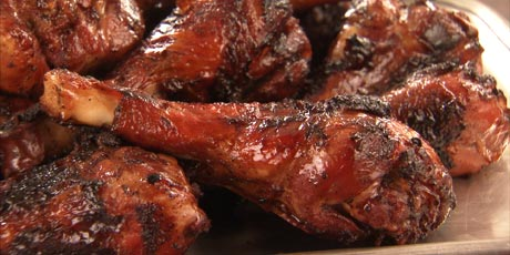 BBQ Turkey Drumsticks with Chipotle Glaze