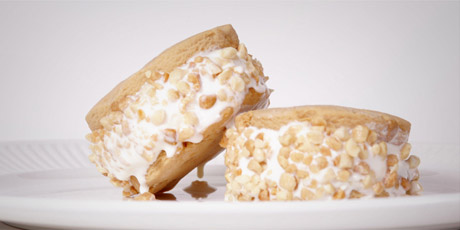 Bee-Nut Butter Ice Cream Sandwiches