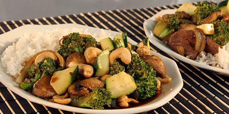 Beef/Cashews and Broccoli with Rice