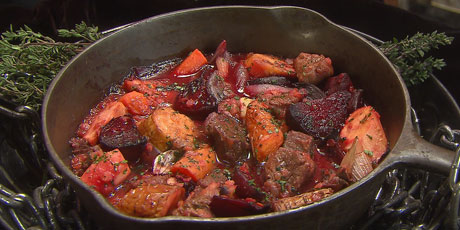 Beef and Roasted Root Vegetable Stew