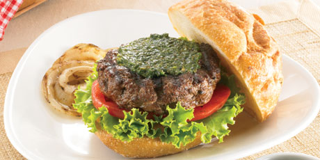 Best Grilled Burgers with Pesto