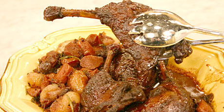 Braised Duck in a Chocolate Wine Sauce