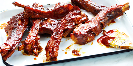 Braised Pork Ribs with BBQ Glaze