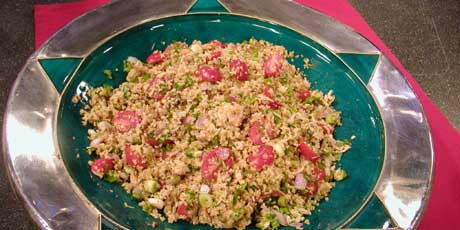 Bulgur Salad with Tuna and Capers