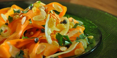 Carrot and Fennel Salad with White Wine Dressing
