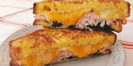 Cheese and Turkey French Toast Sandwiches