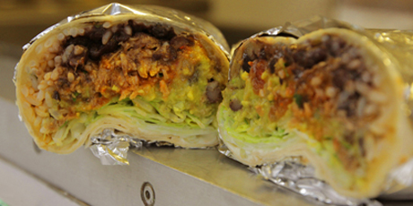 Image result for guac on chipotle burrito
