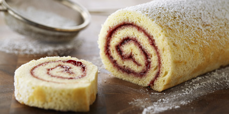 Classic Raspberry Jelly Roll Recipes Food Network Canada