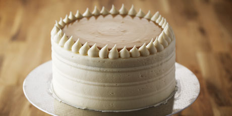 Classic Vanilla Birthday Cake with Caramel Pastry Cream