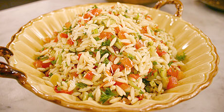 Cold Orzo Salad With Roasted Vegetables Recipes Food
