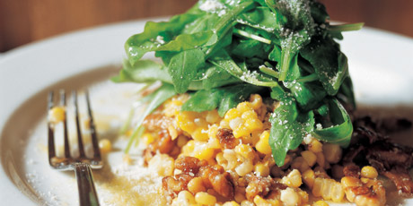 Corn Salad with Walnuts and Goat Cheese