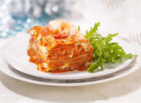 Creamy Seafood Lasagna with Herbs