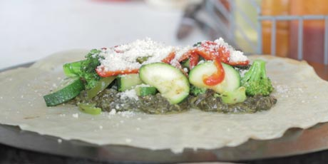 Creme of Spinach Crepe