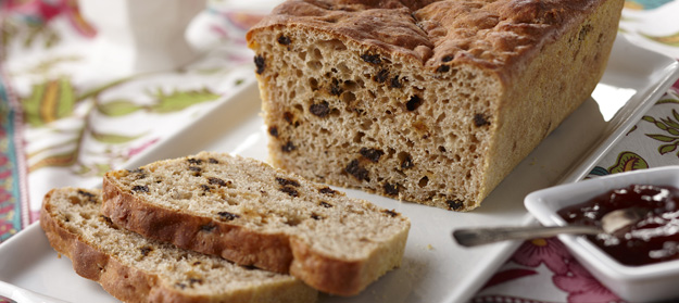 Currant Whole Wheat English Muffin Bread