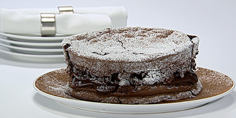 Decadent Dark Chocolate Souffle Cake