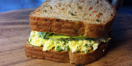 Dilled Egg Salad with Green Onion and Butter Lettuce Sandwich
