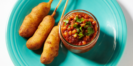 Pork'n Beans with Classic Corn Dog