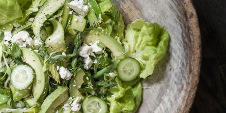 Everything Green Salad with Green Goddess Dressing