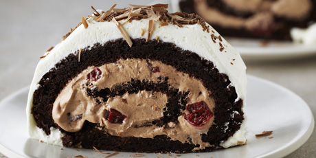 Flourless Black Forest Roulade Recipes Food Network Canada