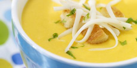 Golden Carrot Soup with Mozzarella