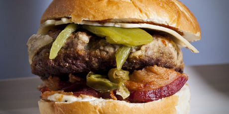 Green Chili Cheese Burgers