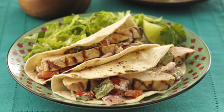 Grilled Chicken & Vegetable Tacos