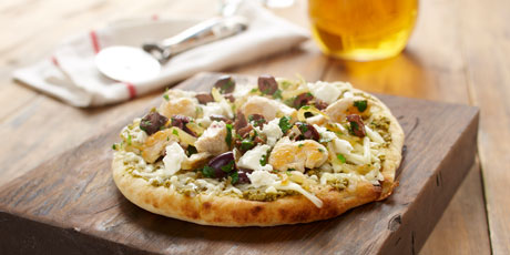 Grilled Feta Pizza with Chicken